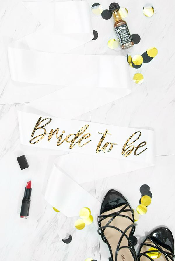 Bride To Be Foil Sash | Cheetah Print