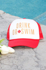 Wifeguard & Drink or Swim Baywatch Hats