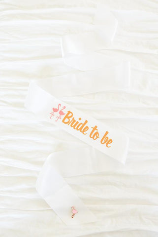 Flamingo Bride to be Sash