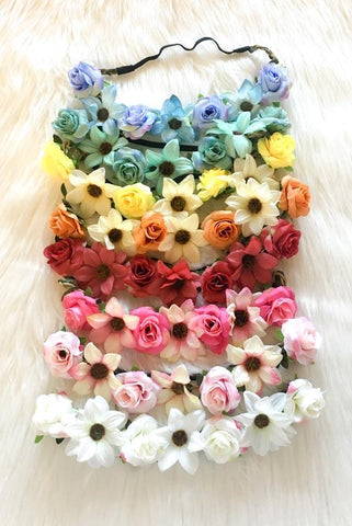 cute bachelorette floral headbands! Comfortable enough to wear from mimosas to happy hour and all the way to last call??