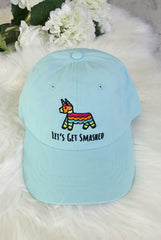 It's My Final Fiesta | Let's Get Smashed - Embroidered Bachelorette Party Dad Hats