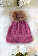 Babe and Bride Knitted Pom Pom Beanies