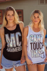 Funny unique bachelroette party shirts - 90s theme - rainbow same love - mc hammered & can't touch this - diamond ring