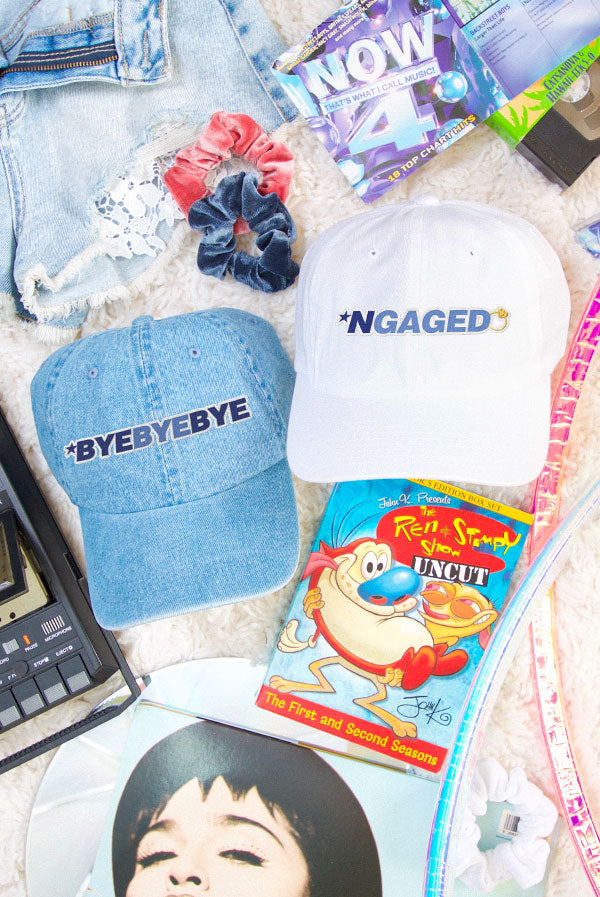 *NGAGED 90's Hats - Lots of Phrases for Your Ultimate Boy Band Bachelorette Party!
