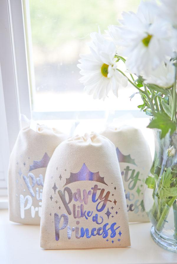 Party Like a Princess Silver Goody Bags