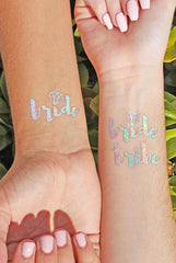 Rainbow Iridescent Bachelorette Flash Tattoos!