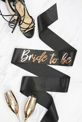 Bride To Be Foil Sash | Rose Gold