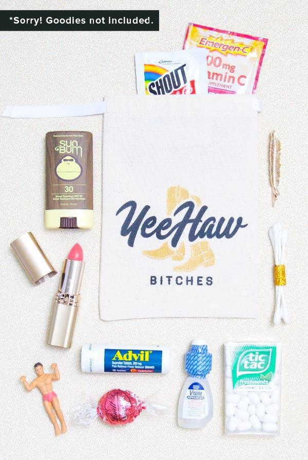 Yee Haw Bitches! Hangover Kit Bags