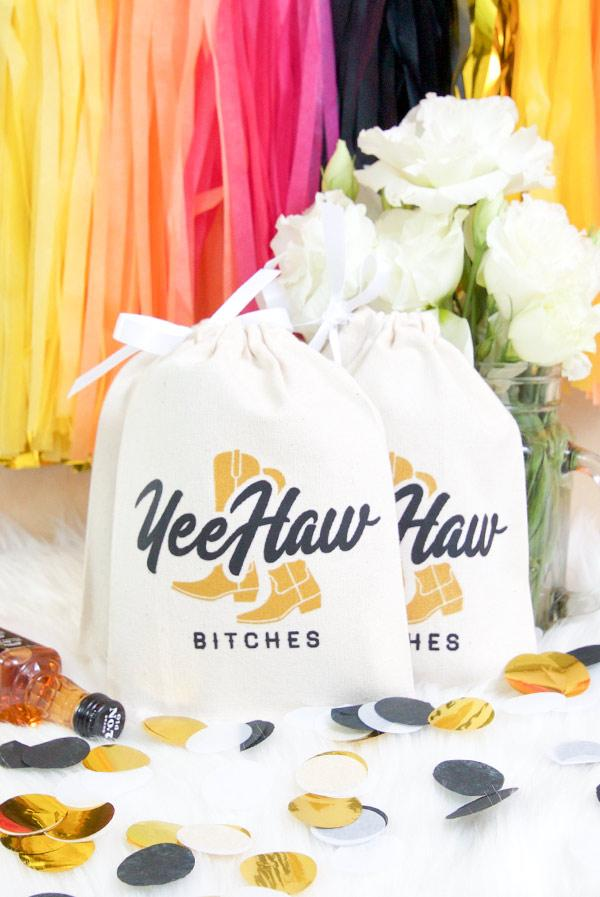 Yeehaw Bitches! Bachelorette Party Hangover Relief Bags