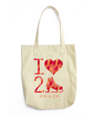 I Heart 2 Skate Tote Bag