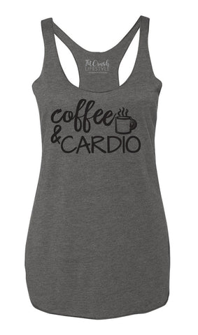 Coffee & Cardio Tank - Heather Gray
