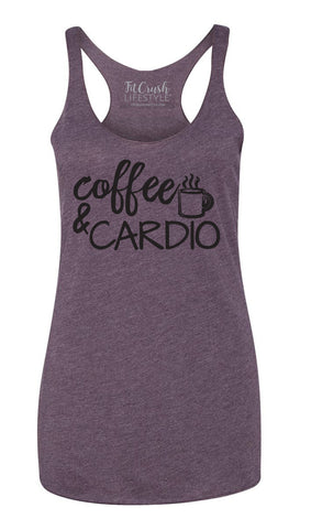 Coffee & Cardio Tank - Vintage Purple