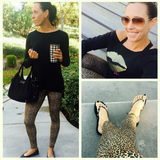 Leopard Crossover Leggings
