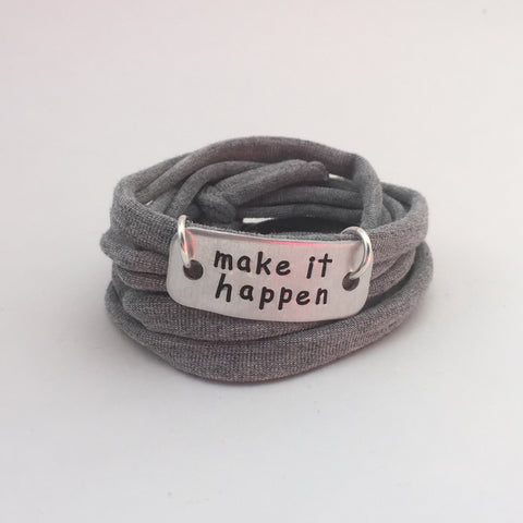 Motivational Wrap Bracelet - Make It Happen (5 colors)