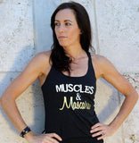 buy Muscles & Mascara tank fashionable fitness tops and shirts