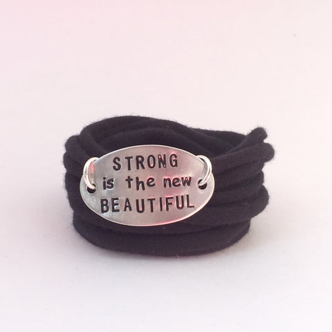 Motivational Wrap Bracelet - Strong Is Beautiful (5 colors)