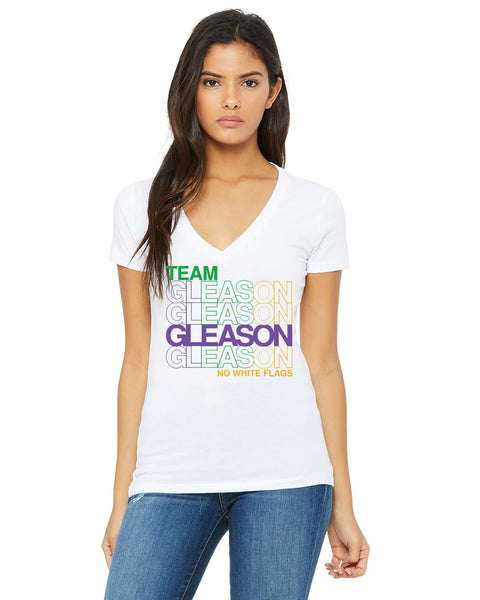 Mardi Gras - Purple Green Gold GLEASON T-Shirt - Women's