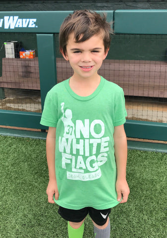 No White Flags Tri-Green Youth T-shirt