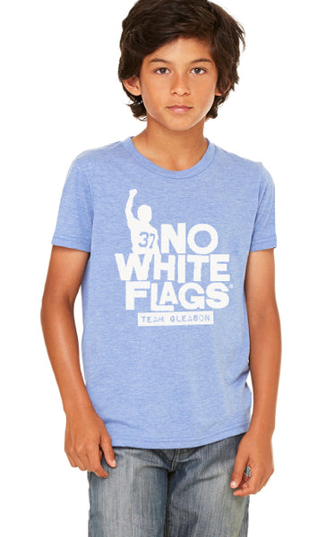 No White Flags Tri-Blue Youth T-shirt