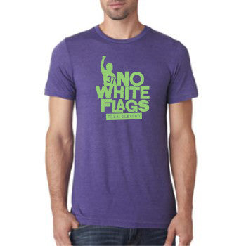 Mardi Gras - Purple No White Flags T-shirt