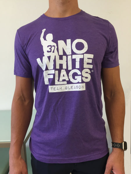 No White Flags Tri-Purple Mens T-shirt