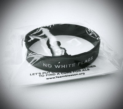No White Flags Silicon Wristband