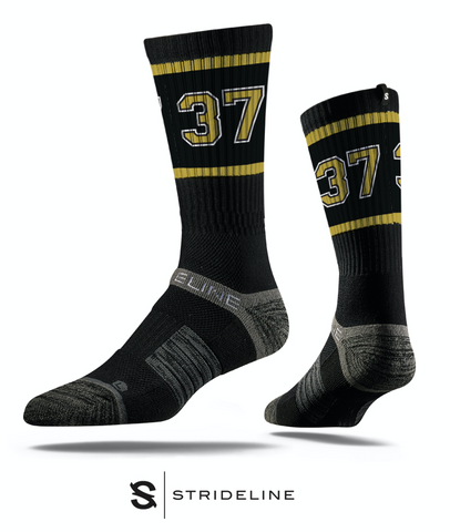 High Rise - Black & Gold 37 Socks