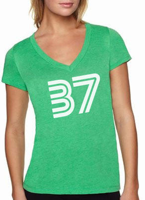 Retro 37 Team Gleason Womens V-neck T-shirt