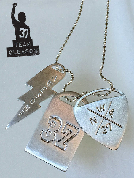 Gleason Tags - Sarah Ott Complete Set with Limited Edition #37 Sterling Silver Necklace Charms