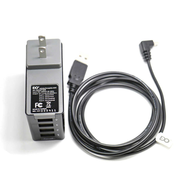 USB Charger Cable Cord & Wall Ac Adapter for Garmin Nuvi SatNav GPS