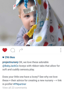 Project Nursery Interview: Soft and Cuddly Sensory Play with Baby Jack Loveys