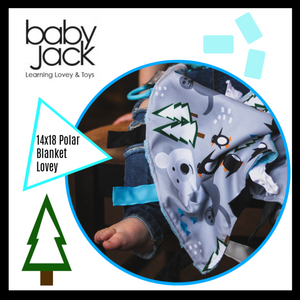 January Print of the Month: Polar Animal Learning Lovey by Baby Jack