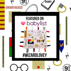Harry Potter Wizard Baby Blanket Gift by Baby Jack Learning Lovey on Baby List