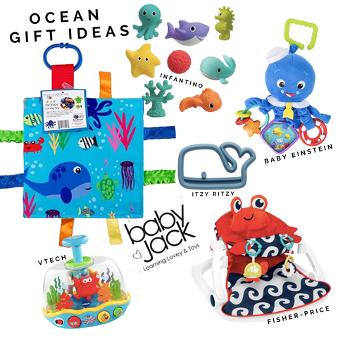 Ocean Baby Toys Learning Lovey Tag Blanket