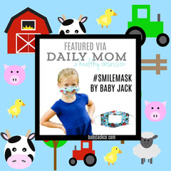 Clear Learning Lovey Smile Masks by Baby Jack on Daily Mom