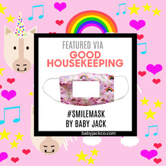Good Housekeeping Learning Lovey Smile Masks for Kids for Lip Reading to Read Facial Expressions
