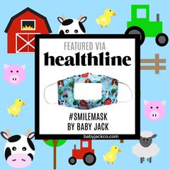 Healthline.com and Baby Jack Learning Lovey Smile Masks