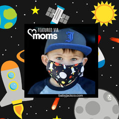 Moms.com learning lovey fabric face masks by Baby Jack