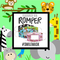 Romper.com and Learning Lovey SMILE Masks by Baby Jack