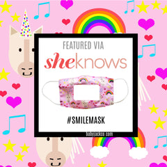 Sheknows.com and Learning Lovey SMILE clear window masks by Baby Jack