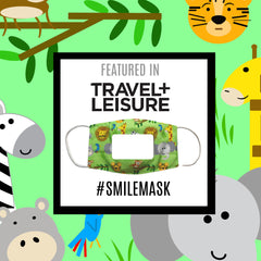 Travel + Leisure top clear face masks SMILE Learning Lovey by Baby Jack