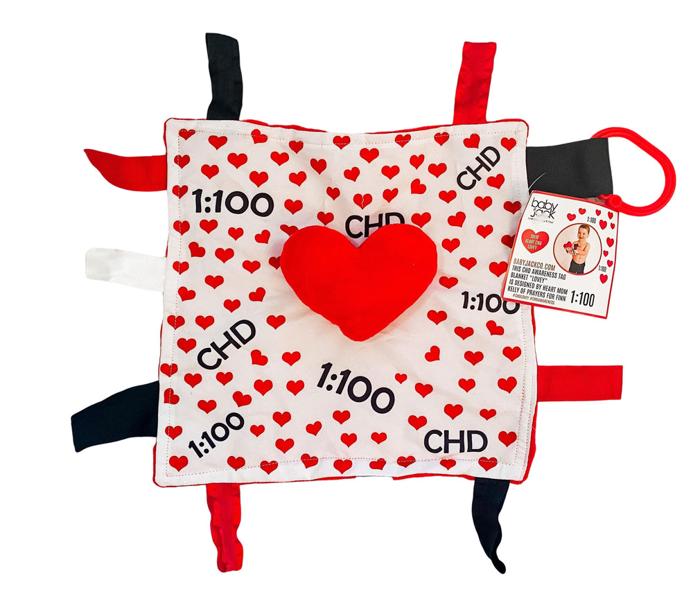 CHD Awareness 1:100 Tag Toy Lovey by Baby Jack