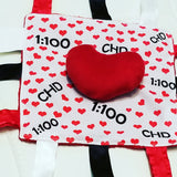 #CHD Awareness Tag Blanket Lovey by Baby Jack