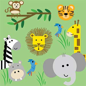 Jungle Zoo Learning Lovey Collection