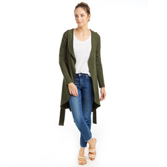 green belted sweater jacket