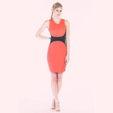 Ada dress coral front