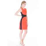 Ada dress coral side
