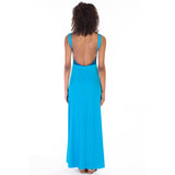 alma dress blue back