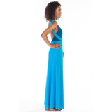 alma dress blue side