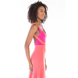 alma dress pink side detail